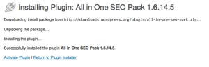 Activate ALL IN ONE SEO PACK