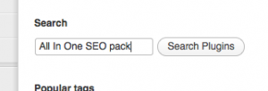 All In One SEO Pack Search