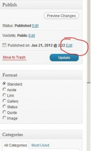 Changing the date on a wordpress post