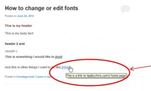 title showing in hyperlink text post on wordpress